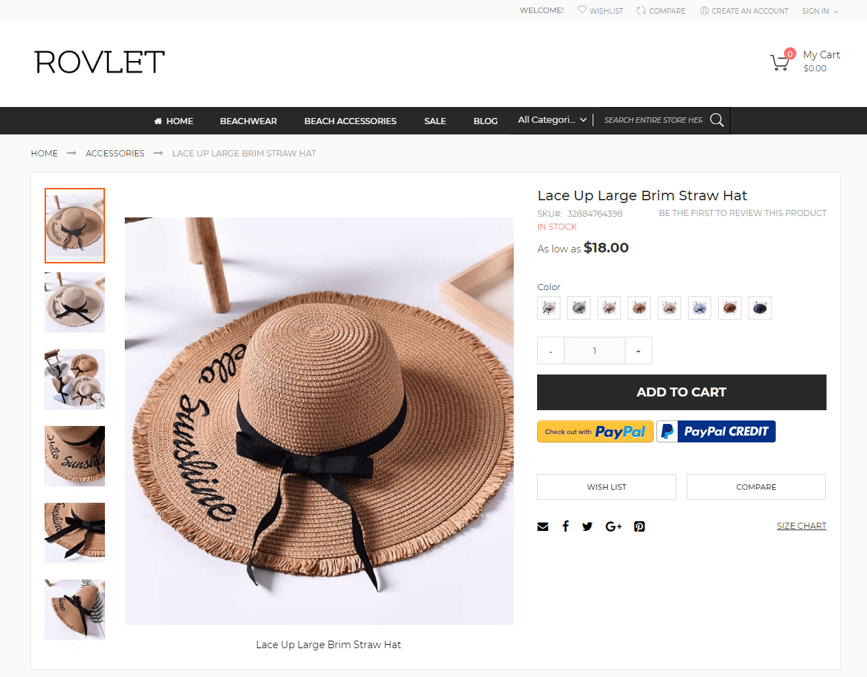 Rovlet Product Page