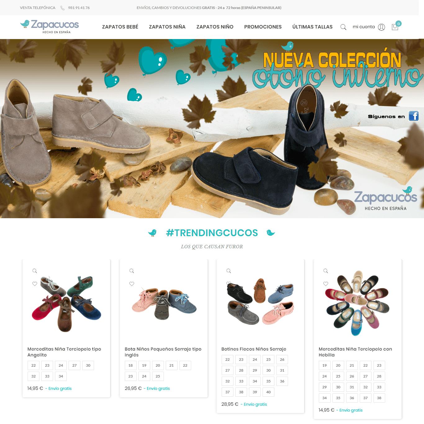 Zapacucos Online Shop