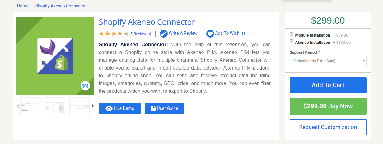 Shopify-Akeneo-Connector