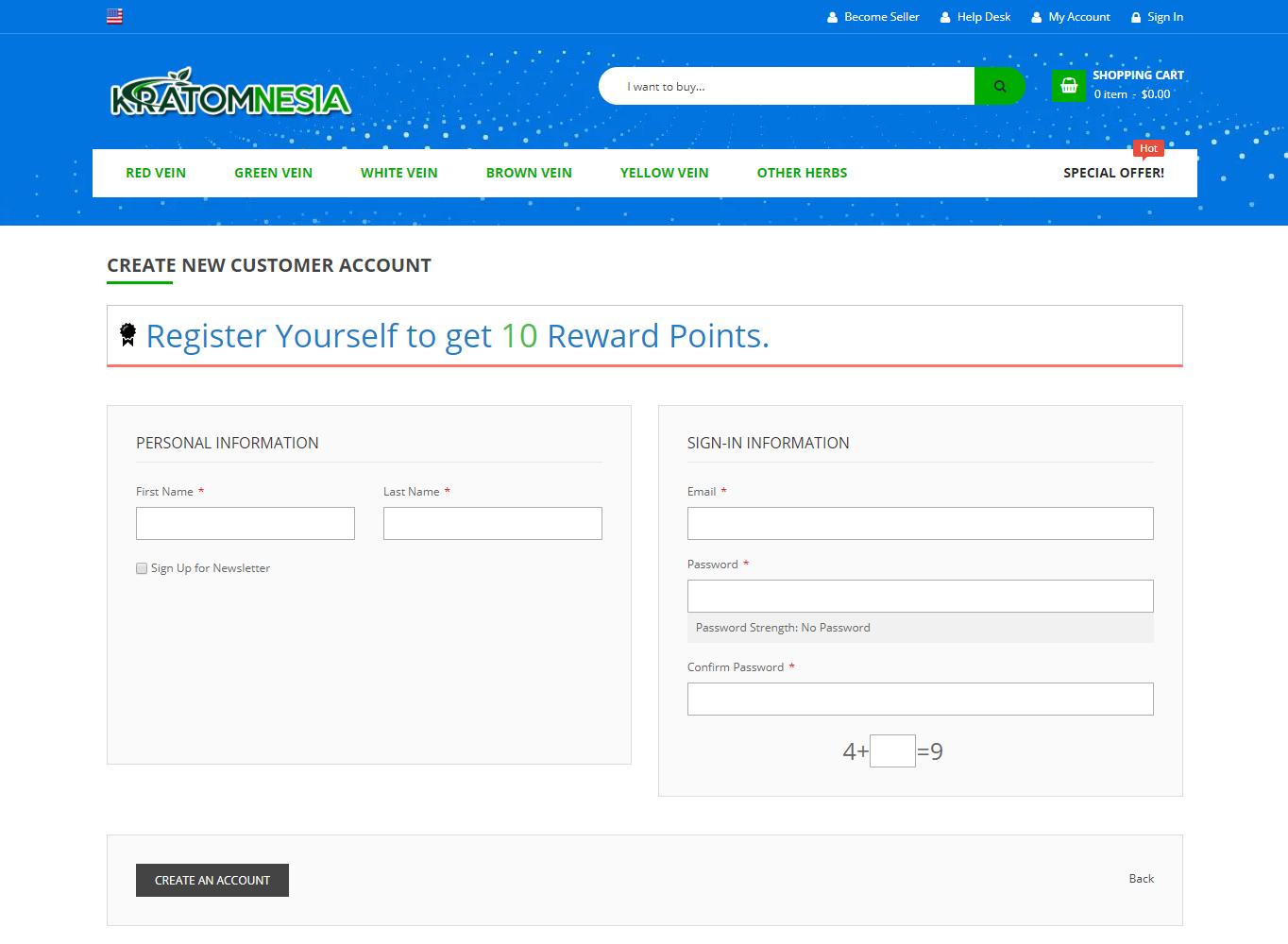 kratomnesia-reward-points-customer-account-create