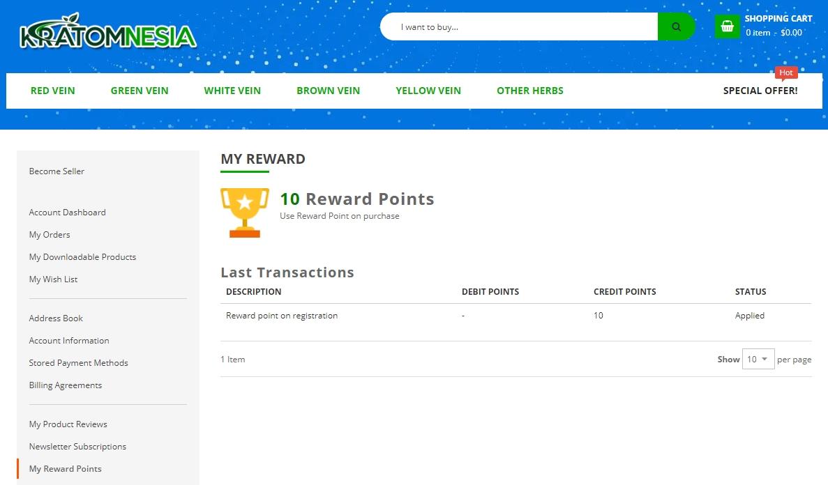 kratomnesia-reward-points