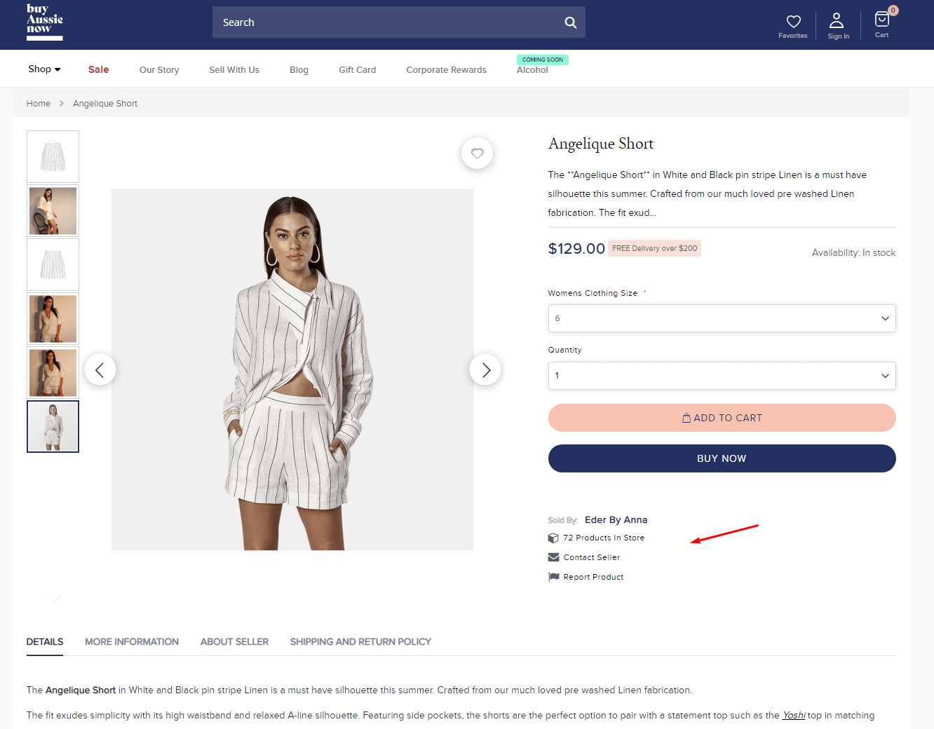 Seller Product Page