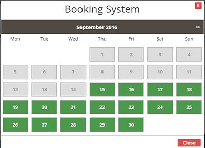 Magento Booking and Reservation Module Front-End Management