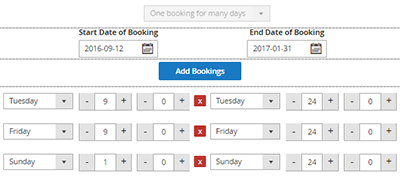 Booking And Reservation One Booking For Many Days
