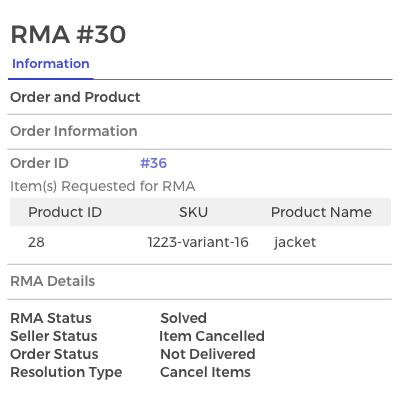 RMA Admin Management