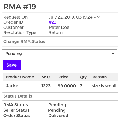 RMA Seller Management