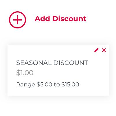 Add Discount
