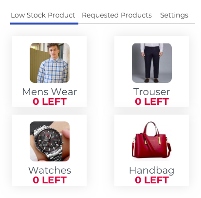 Low Stock Product Indicator