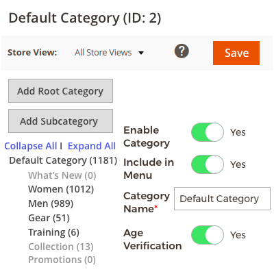 Age Verification on the Category Page