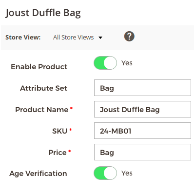 Age Verification on the Product Page