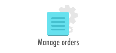 Manage orders: