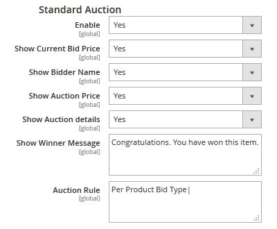 Standard Auction