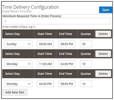 magento2 mp delivery time