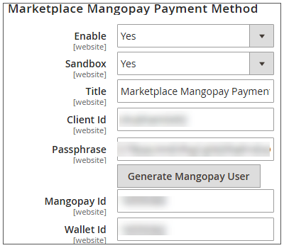 Configuration Of MangoPay Payment Gateway