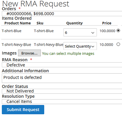 Requesting for RMA