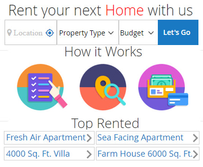 Rent Property Page