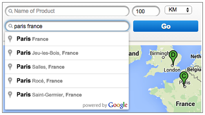 Provide Suggestions Based on Google Map