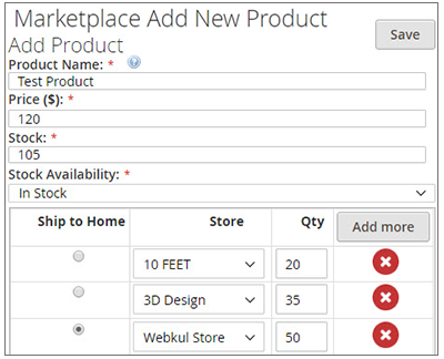 Magento2 Store Pickup Marketplace Add-On