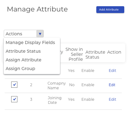 Attribute Management for Users