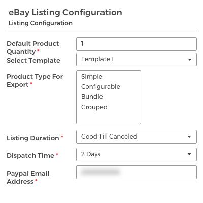 Listing Configuration