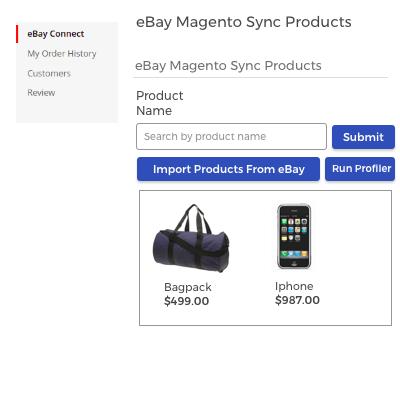 eBay Sync Products