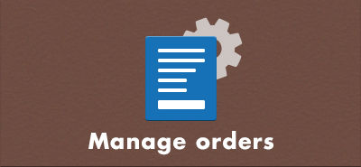 Manage orders