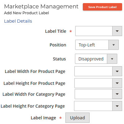 Admin Management of Product Labels