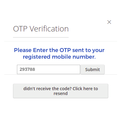 OTP Generation During Registration: