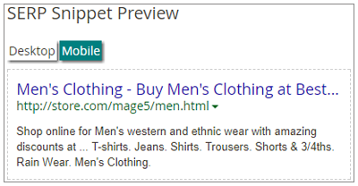 SERP Snippet Preview
