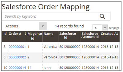 Salesforce Connector Order Mapping