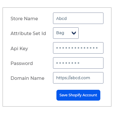 Add Shopify Account
