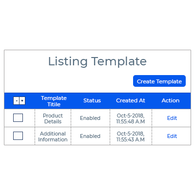 Listing Templates