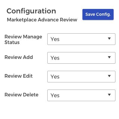 Admin-End configuration