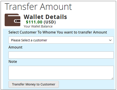 Transfer Wallet  Money