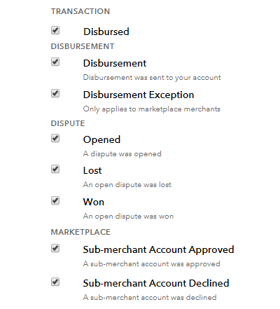 Webhook In Marketplace Braintree Payment Gateway