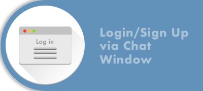 Login via Chat Window