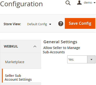 Allow Sellers To Manage Sub-Accounts: