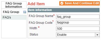 add faq groups