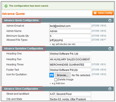 Magento Advance Quote System