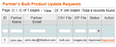 manage bulk product and partner