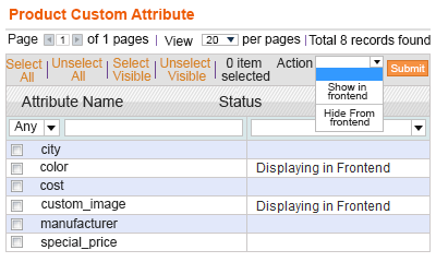 MANAGE PRODUCT ATTRIBUTE