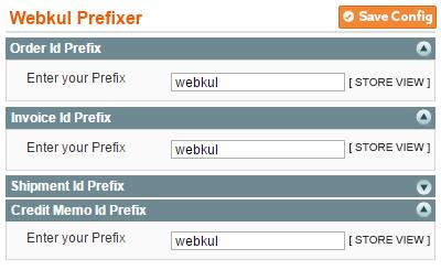 custom order prefixer