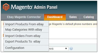 Magento Ebay Connector - Admin Configuration:
