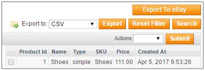 export to eBay