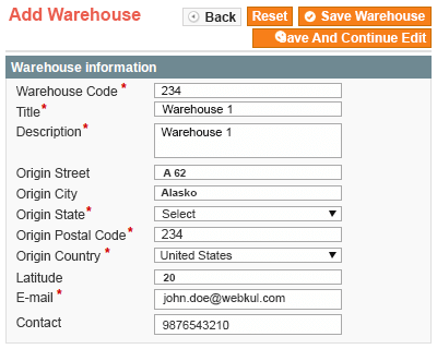 manage warehouse