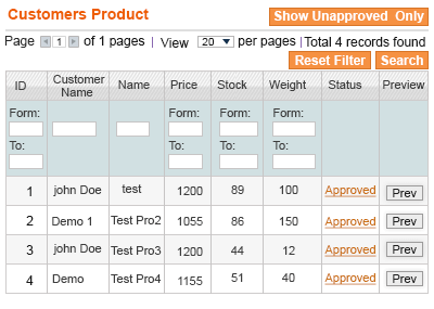 manage product