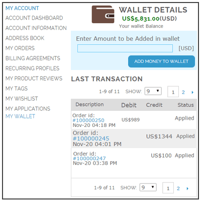 Magento Wallet Module Digital Ewallet Extension Webkul