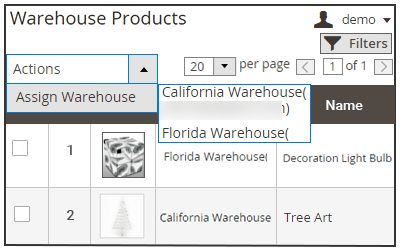 warehouse product relation