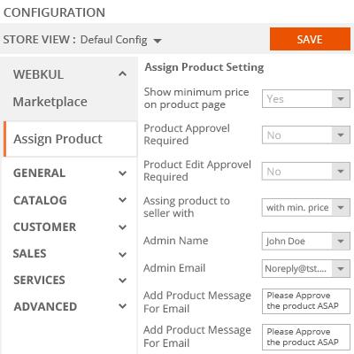 admin configuration