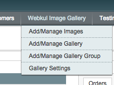 Magento Image Gallery - Admin Menu